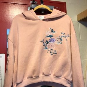 Sweaters - Pink Floral Embroidered Sweater